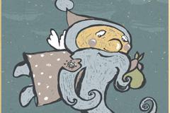 Link toFlying santa vector illustration