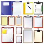 Folder notepad vector