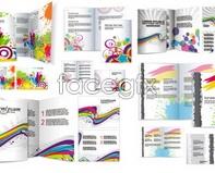 Folding leaflets design vector