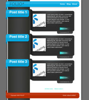 Link toFolio : free psd blog template