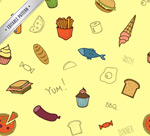 Link toFood seamless vector background