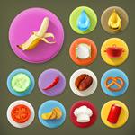 Food theme icon vector
