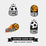 Link toFootball and basketball logo vector
