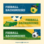 Link toFootball background banner vector free