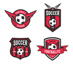 Link toFootball red labels vector