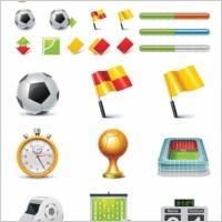 Link toFootball theme icon vector