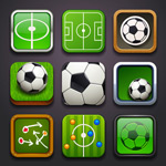 Football-themed icon vector