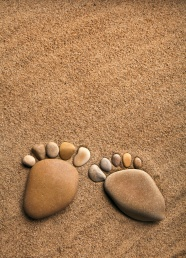 Link toFootprints sand and creative pictures
