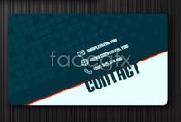 Link toForeign business card template vector