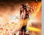 Link toForeign fashion posters beauty bright psd