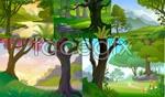 Link toForest landscape vector
