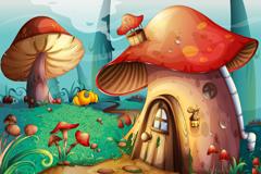 Link toForest mushroom cartoon vector