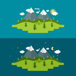 Link toForest snow illustrations vector