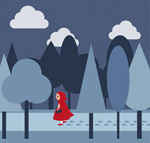 Link toForests of little red riding hood vector