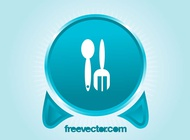 Link toFork and spoon button vector free