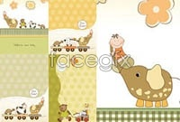 Link toFour animal background vector map