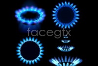 Link toFour blue flame vector
