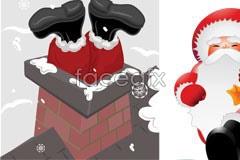 Link toFour cartoon santa vector