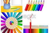 Link toFour color pencils vector graphics