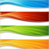 Link toFour colorful banners vector graphic