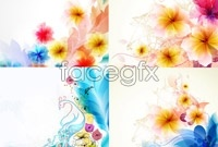 Link toFour colorful pattern background vector map