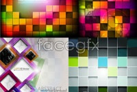 Link toFour colorful squares background vector