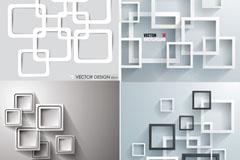 Four creative borders background vector