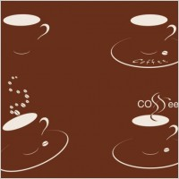Link toFour cups of coffee silhouette vector