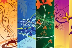 Link tovector pattern background current Four