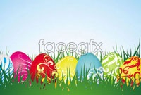 Link toFour easter background vector