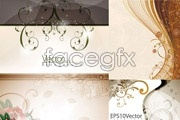 Link toFour elegant flower background vector