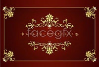 Link toFour european-style greeting card template vector