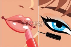 vector makeup female Four