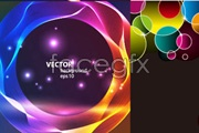 Link toFour glare background vector