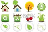 Link toFour green eco icon vector