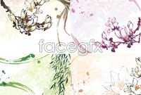 Link toFour ink fantasy flower vector