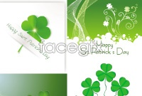 Four-leaved clover element background vector