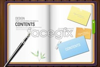 Link toFour paper notebooks vector