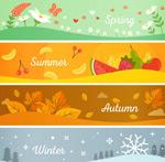 Link toFour seasons banner vector
