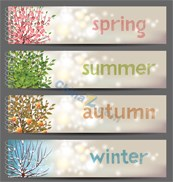 Link toFour seasons color banners vector templates