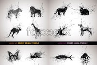 Link toFour signs of rust animals vector graphics