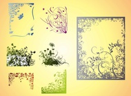 Link toFrames with flowers vector free
