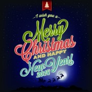 Link toFree 2014 christmas night sky vector background