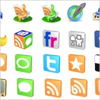Link toFree 3d social icons icons pack