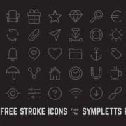 Link toFree 40 kind black line icons vector