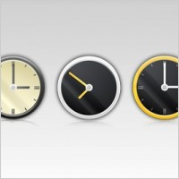 Link toFree 5 psd clock icons