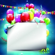 Link toFree beautiful colorful balloons happy birthday background vector 02