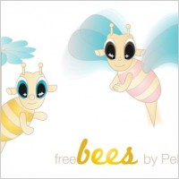 Link toFree bees – vector characters