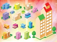 Link toFree buildings houses icons vector