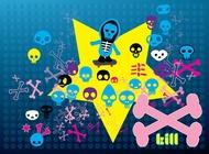 Link toFree cartoon skulls vectors
